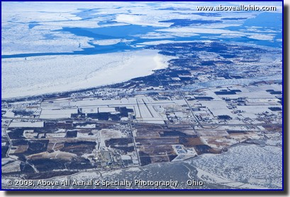Port Clinton, Ohio, and the Lake Erie Islands in winter