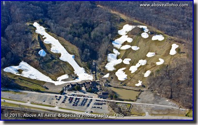 The slopes at Boston Mills Ski Resort near Peninsula, OH, we nearly bare for most of the winter of 2011-2012.