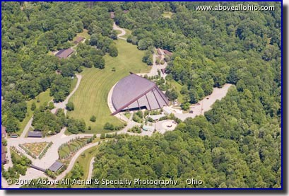 Aerial photo of Blossom Music Center Aerial Photo, Cuyahoga Falls, Ohio