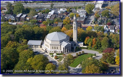 Aerial photograph of the former First Church of Christ, Scientist, University Circle, Ohio