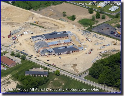 A construction site under development in Ohio