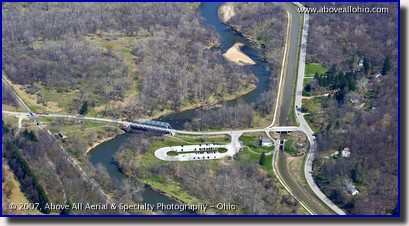 Aerial photo of a visitor's center in Cuyahoga Valley National Park in Cleveland, OH