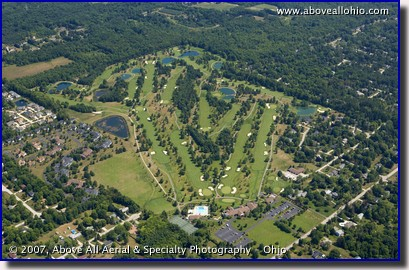 Aerial photograph of golf course near Reminderville, Ohio