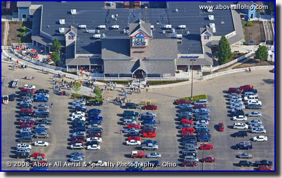 Aerial photo of the Lodi Station outlet mall in Lodi, Ohio