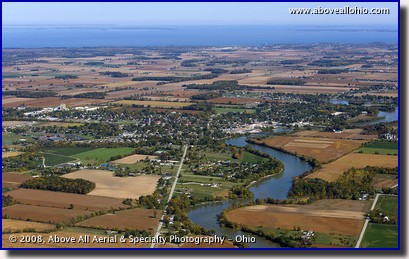 Aerial view of Oak Harbor, Ohio