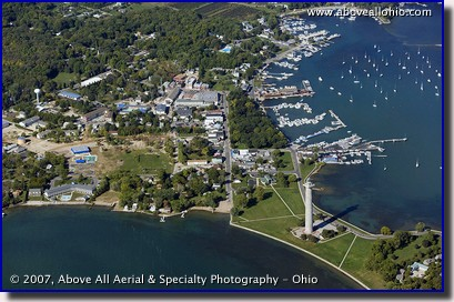 Aerial photograph of Put-In-Bay, Ohio, on South Bass Island in Lake Erie