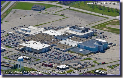 An aerial photo of the Richland Mall in Ontario (Mansfield), OH