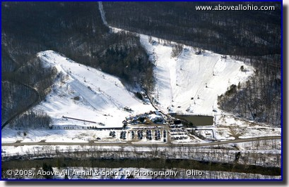 Aerial photograph of Boston Mills ski resort