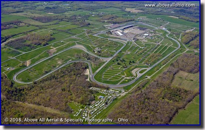 Aerial photo of Watkins Glen International racetrack